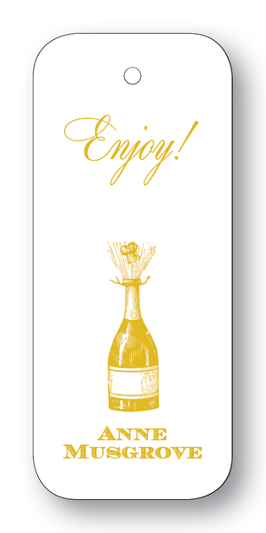 Champagne Bottle Gold (Customizable)
