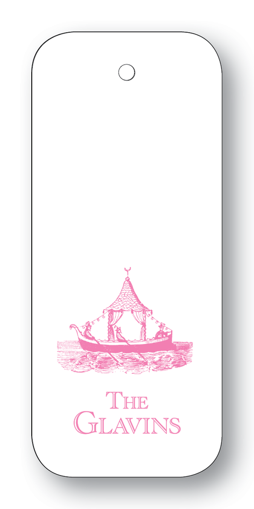 Chinoiserie Boat - Azalea (Customizable)
