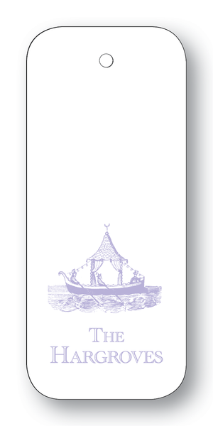Chinoiserie Boat - Lavender (Customizable)