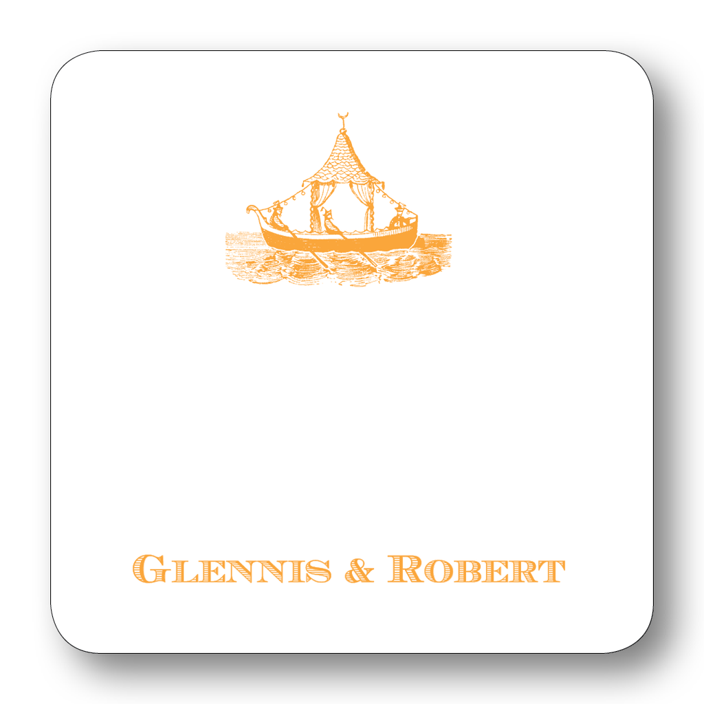 Chinoiserie Boat - Orange (Customizable)