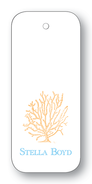 Coral - Orange & Turquoise (Customizable)