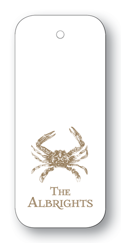 Crab - Pewter (Customizable)