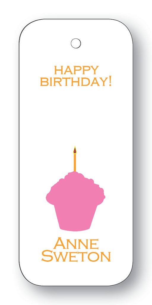 Cupcake Silhouette - Azalea & Orange (Customizable)
