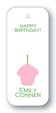 Cupcake Silhouette - Pink & Clover (Customizable)