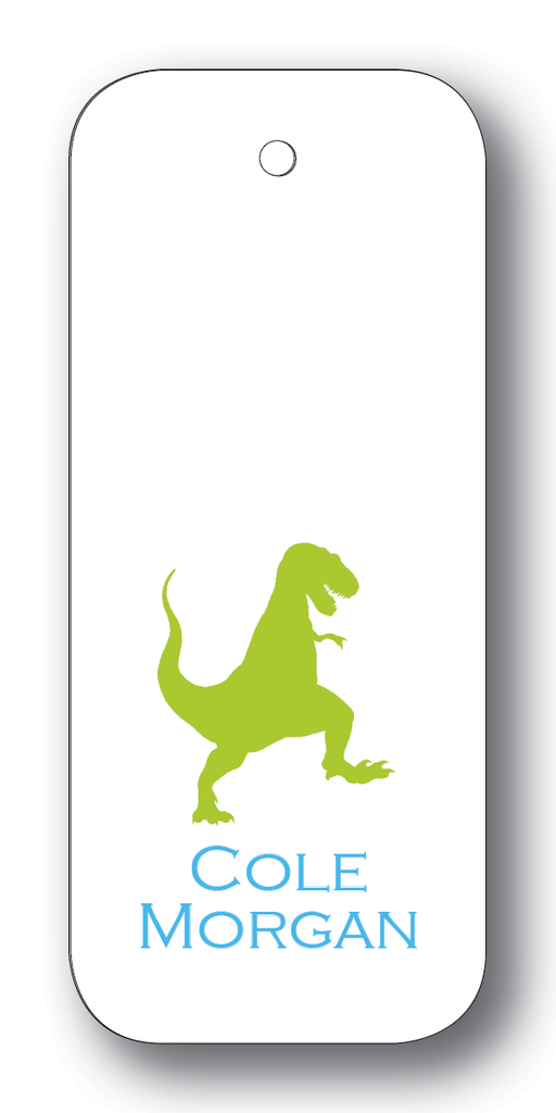 Dinosaur Silhouette - Chartreuse & Turquoise (Customizable)
