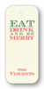 Eat Drink and be Merry - Forest on Ecru (Customizable)