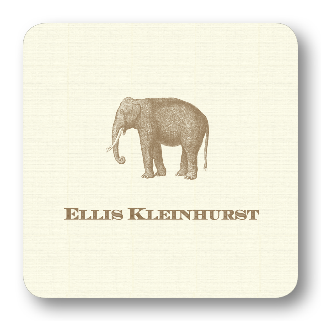 Elephant - Pewter (Customizable)