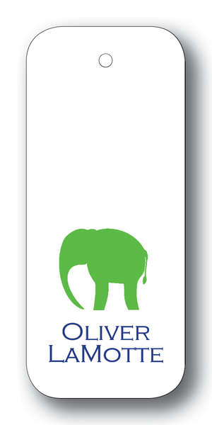 Elephant Silhouette - Clover & Navy (Customizable)