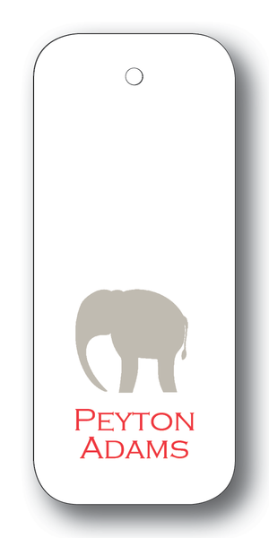 Elephant Silhouette - Dove & Scarlet (Customizable)