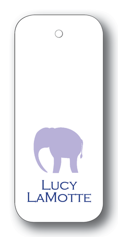 Elephant Silhouette - Lavender & Navy (Customizable)