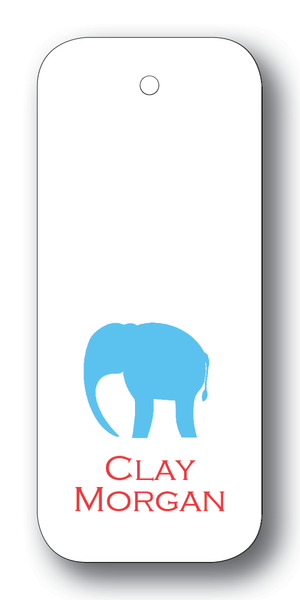 Elephant Silhouette - Turquoise & Scarlet (Customizable)