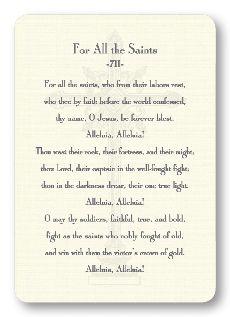 For All the Saints Hymn