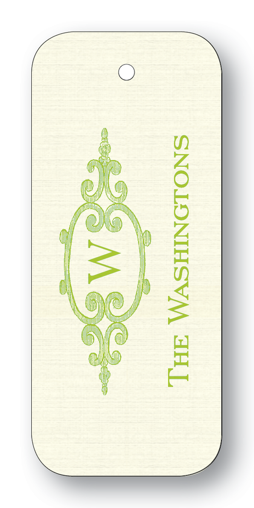Filigree Frame with Single Initial - Chartreuse (Customizable)