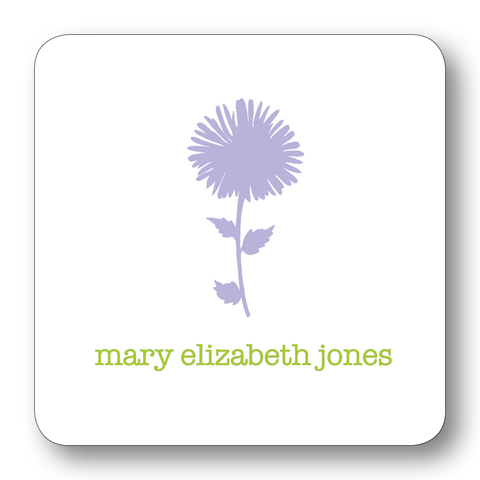 Flower Silhouette - Lavender & Chartreuse (Customizable)