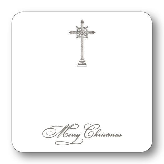 Cross Merry Christmas (Grey)