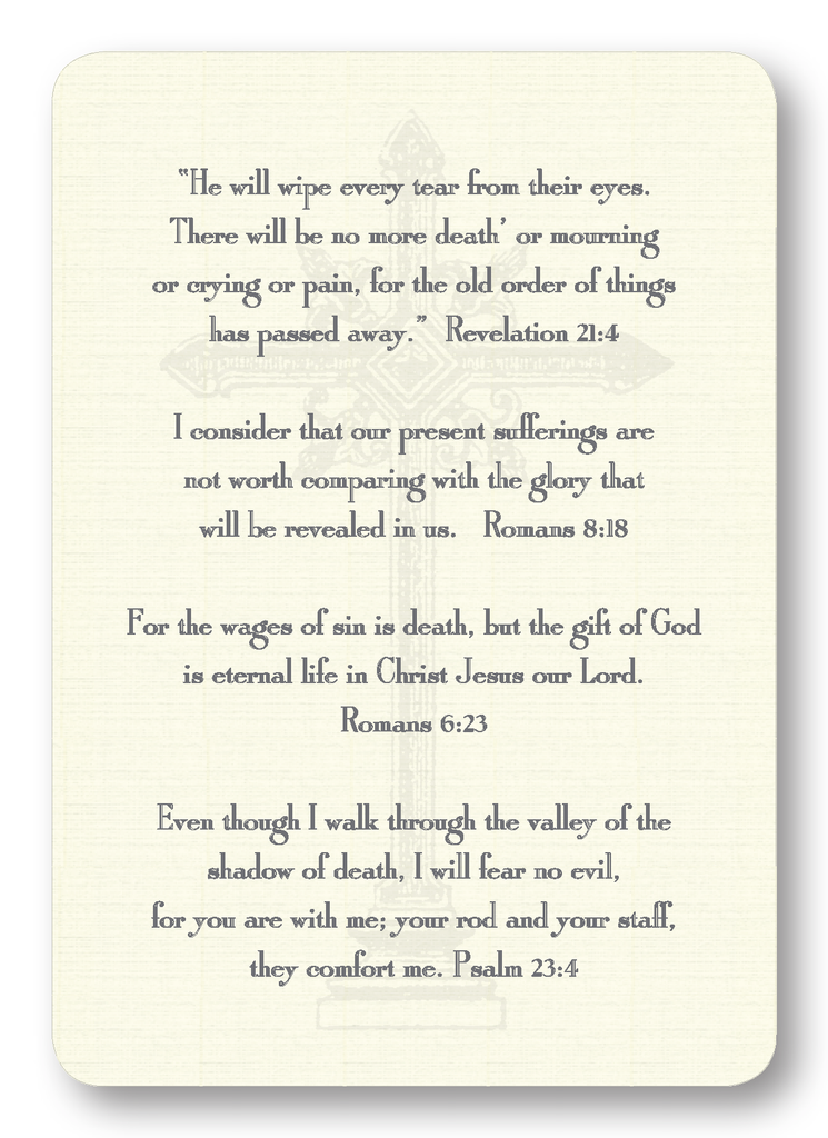 Verses for Grief (Package of 8)