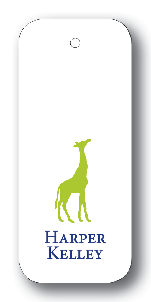 Giraffe Silhouette - Chartreuse & Navy (Customizable)