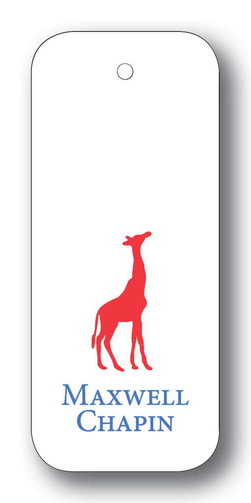 Giraffe Silhouette - Scarlet & Royal (Customizable)