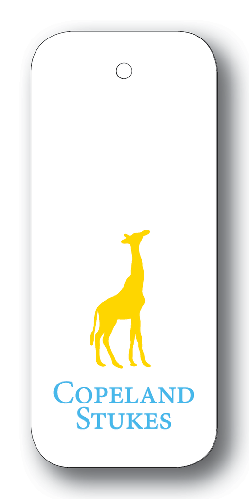 Giraffe Silhouette - Yellow & Turquoise (Customizable)