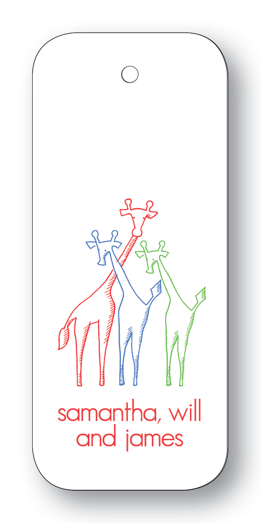 Giraffe Trio - Scarlet, Navy & Clover (Customizable)
