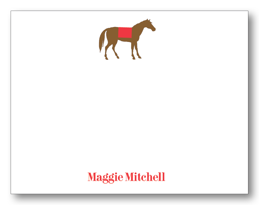 Horse - Red (Customizable)