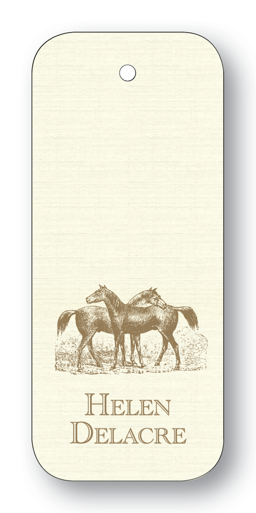 Horse Pair - Pewter (Customizable)