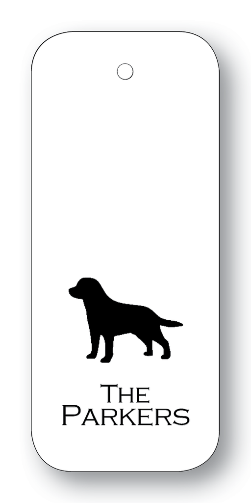 Lab Silhouette - Black on White  (Customizable)