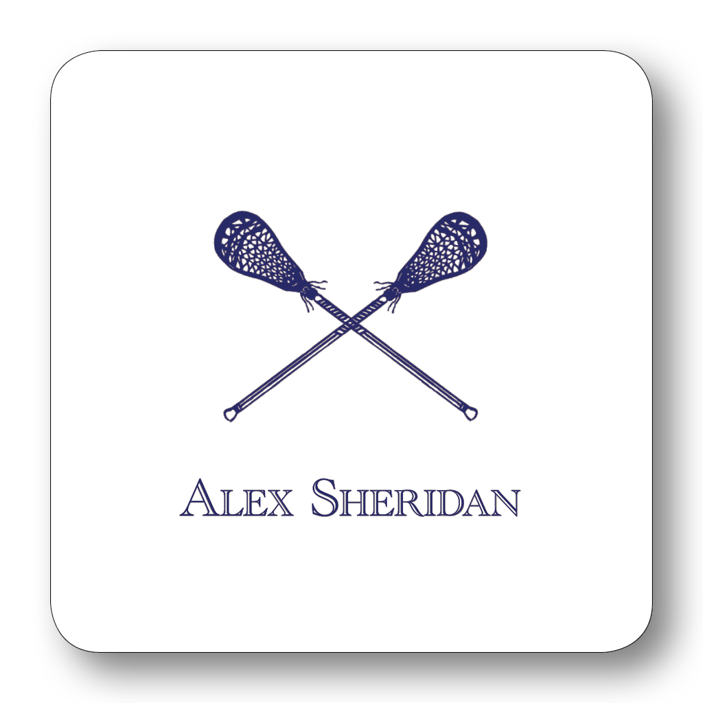 Sports - Lacrosse Sticks Navy (Customizable)
