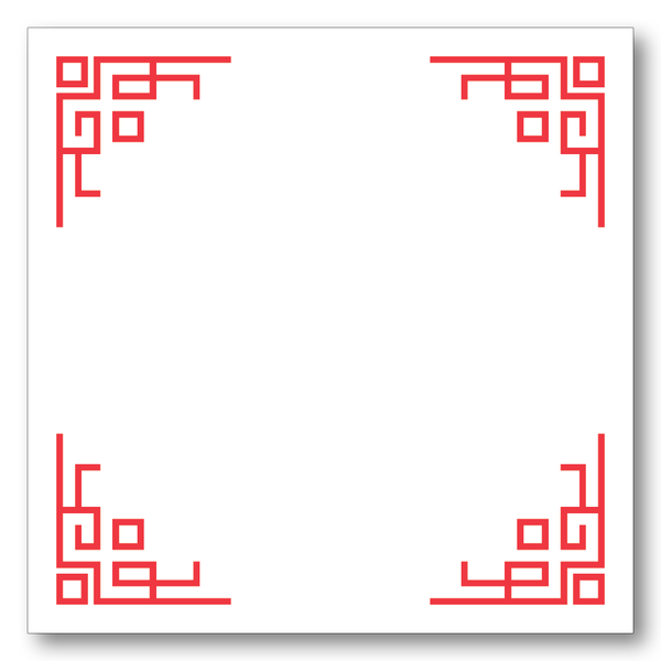 Chinese Corners (Red)