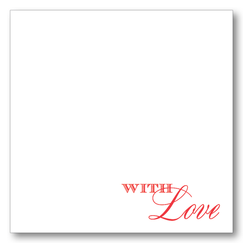 With Love Script (Red)
