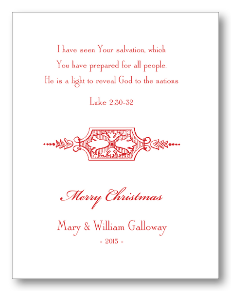 Merry Christmas with Luke 2:30-32 (A2)