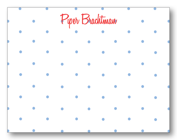 Polka Dots - Carolina & Red (Customizable)