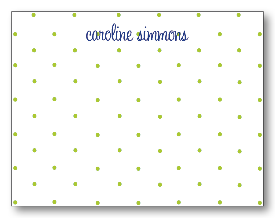 Polka Dots - Chartreuse & Navy (Customizable)