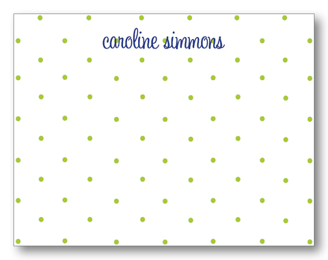 Polka Dots Chartreuse & Navy (Customizable)