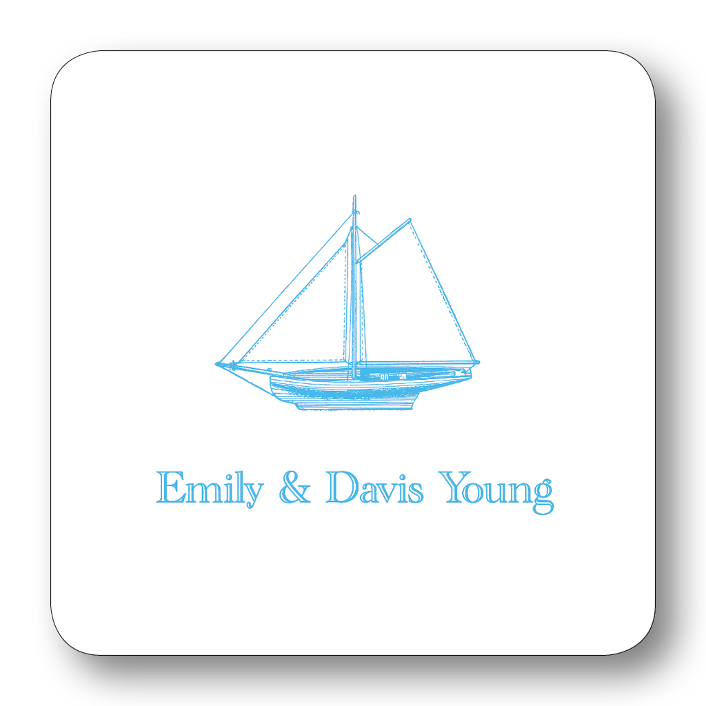 Sailboat - Turquoise (Customizable)