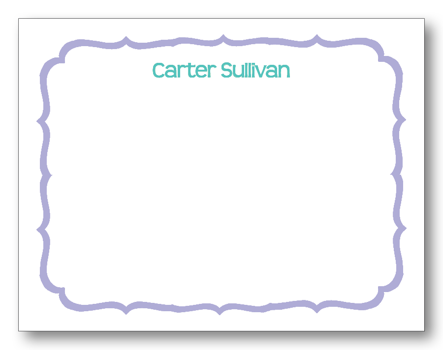 Scalloped Border - Lavender & Peridot (Customizable)
