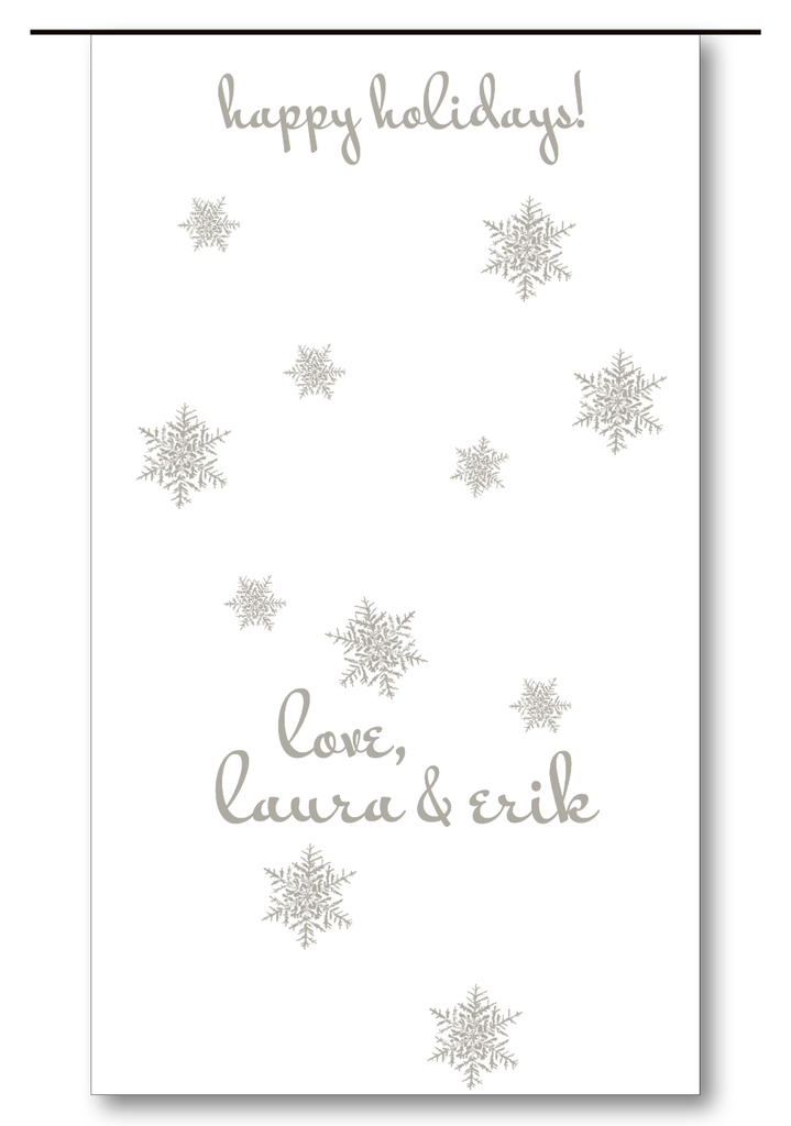 Snowflakes Scattered Charcoal (Customizable)