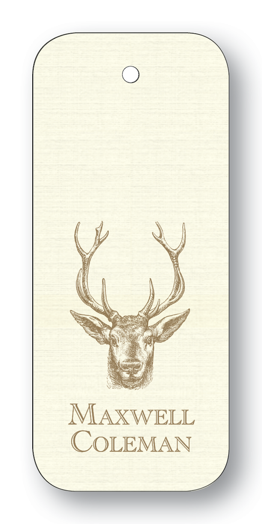 Stag - Pewter (Customizable)