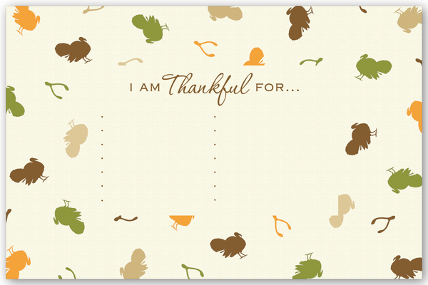 Turkeys - I Am Thankful For... (Placemats)