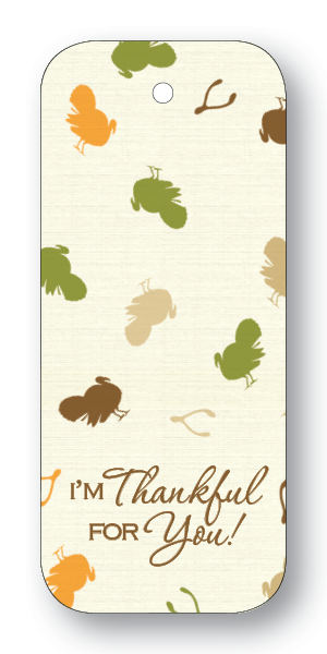 Turkeys - I Am Thankful For You (Gift Tags)
