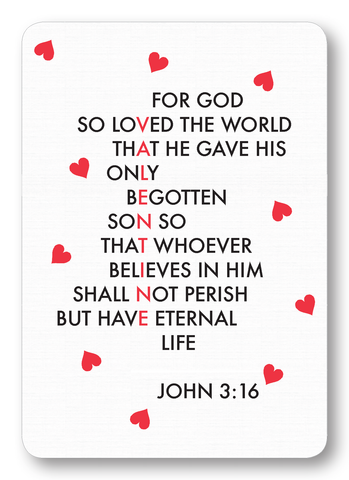 Valentine Love - John 3:16 (Package of 8)