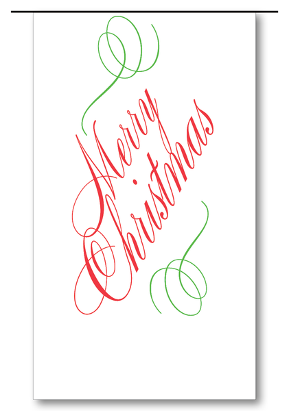 Merry Christmas Script (Red & Clover)