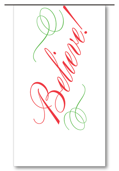 Believe Script (Red & Clover)
