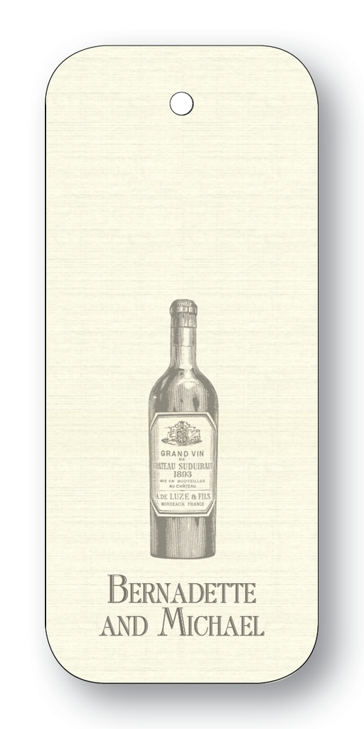 Wine Bottle - Charcoal (Customizable)