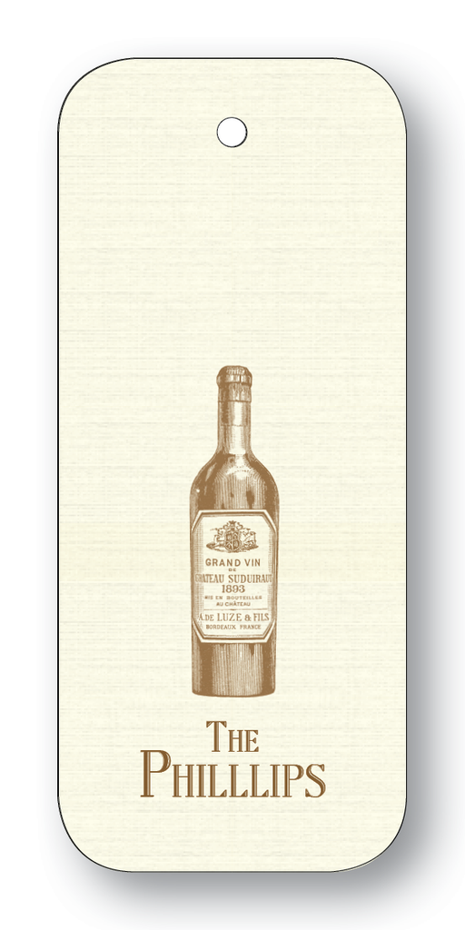 Wine Bottle - Chocolate (Customizable)