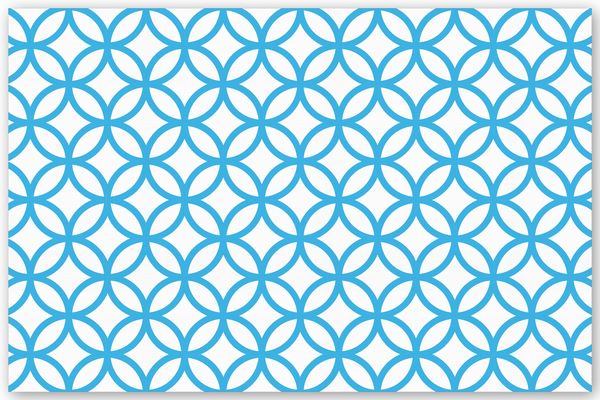 Circle Diamond Background Turquoise