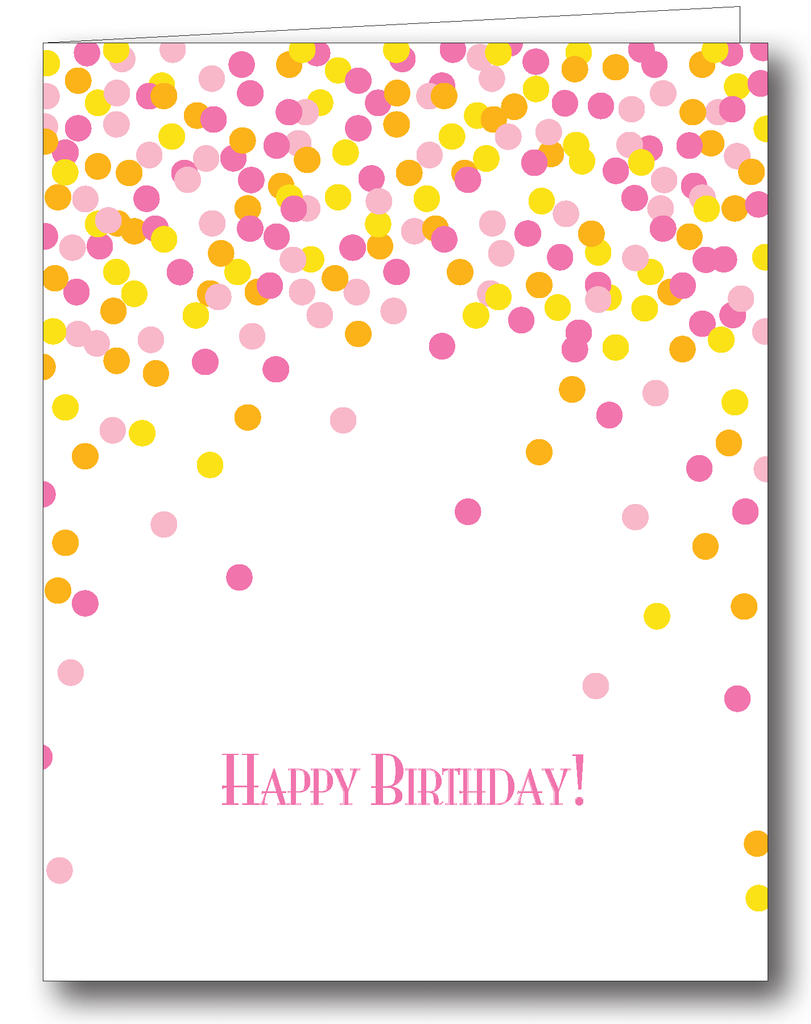 Confetti (Pink); Happy Birthday! - Psalms 118:24