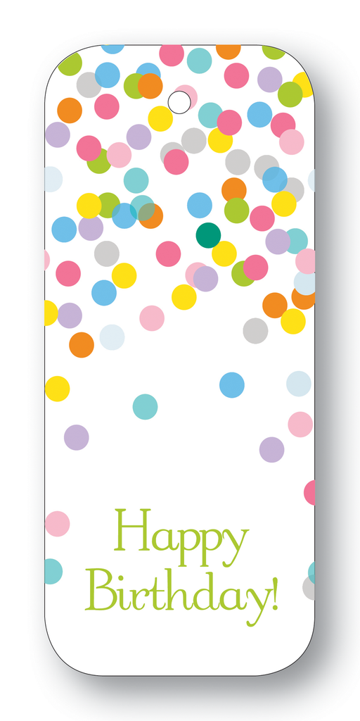 Happy Birthday! Confetti Multicolor Pastel