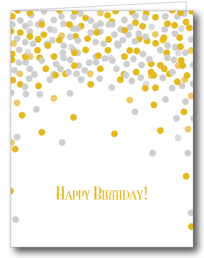 Confetti (Silver & Gold); Happy Birthday! - Psalms 118:24