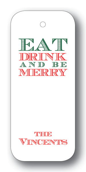 Eat Drink and be Merry - Forest on White (Customizable)